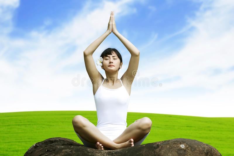 Download Beautiful Asian Woman Doing Yoga Stock Image - Image: 25301025