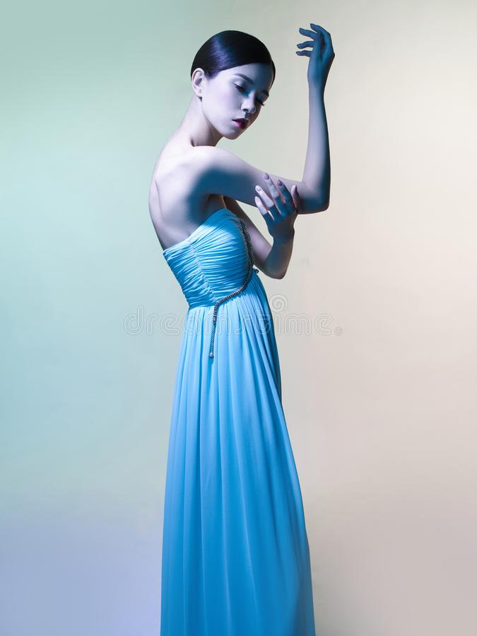 Free Beautiful Asian Woman. Fashion Studio Portrait Of Beautiful Woman Royalty Free Stock Image - 108905806