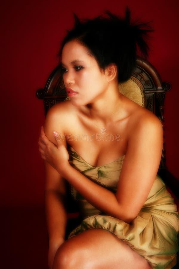 Beautiful Asian Woman in Formal stock photos