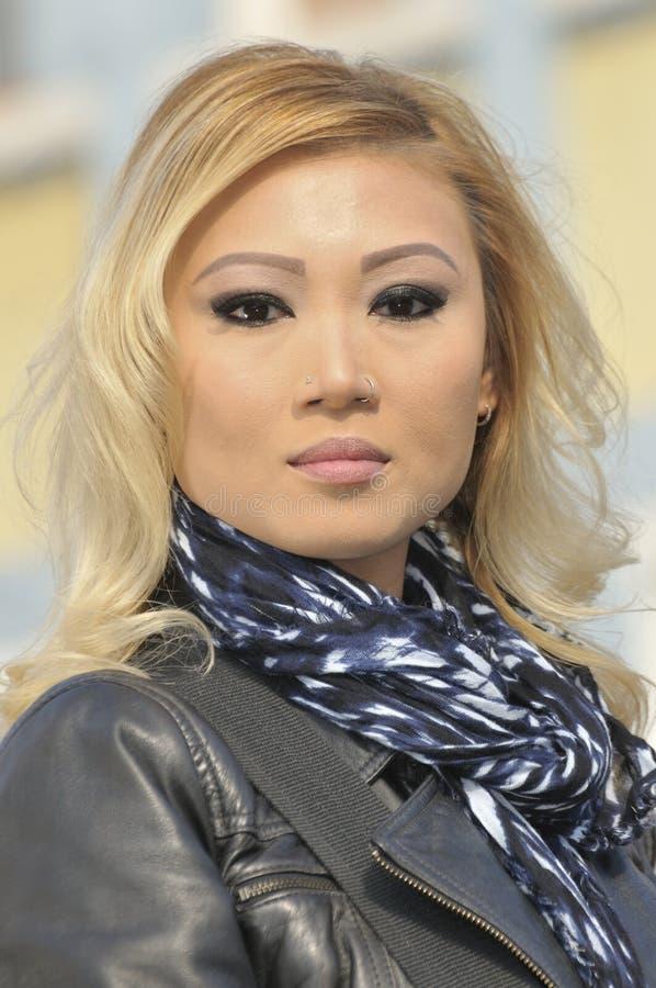 Beautiful Asian Woman Headshot royalty free stock photo