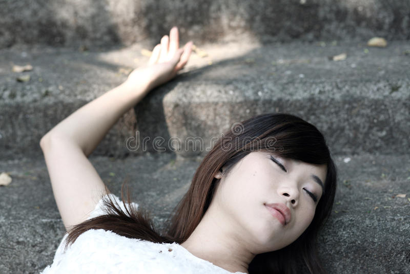 unconscious girl Beautiful