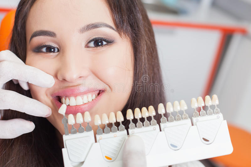 Beautiful asian woman smile with healthy teeth whitening stock photos
