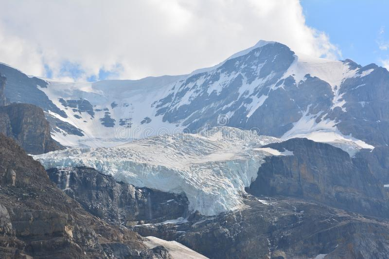 Athabasca glacier. The beautiful Athabasca glacier, Columbia icefields stock image