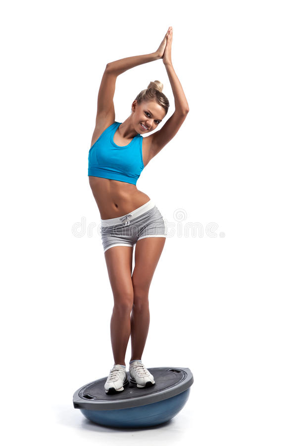 Beautiful athletic girl royalty free stock images