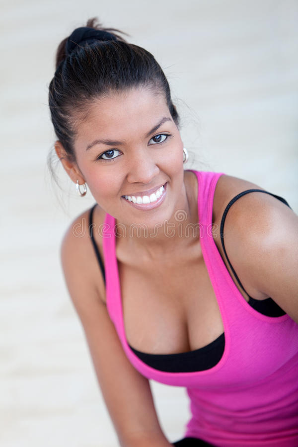 Download Beautiful athletic woman stock photo. Image of smile - 15347070