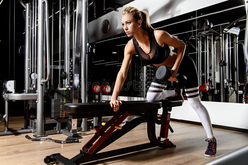 Bodybuilding for women royalty free stock image