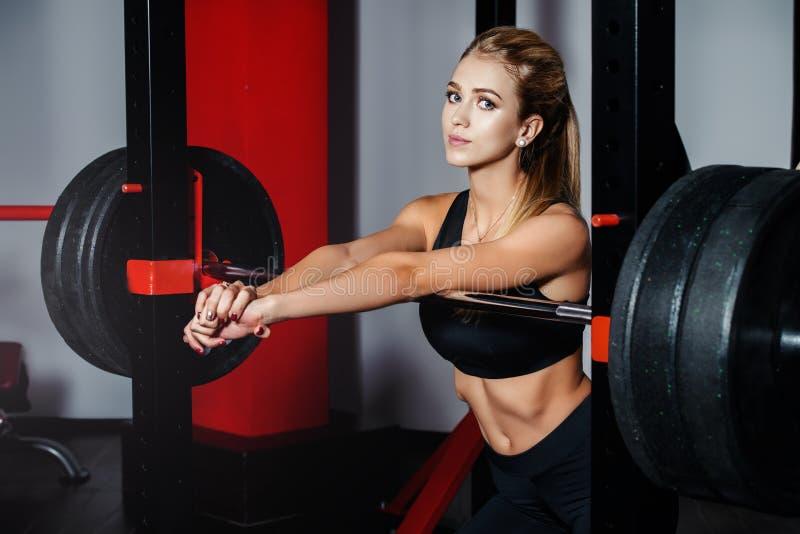 Female bodybuilding concept stock photo