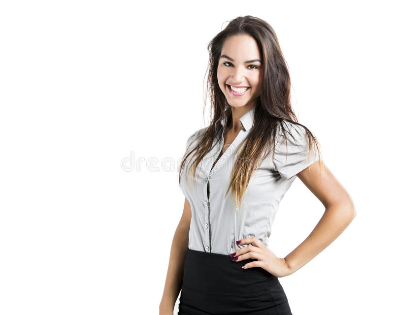 Download Happy business woman stock photo. Image of natural, brunette - 29846532