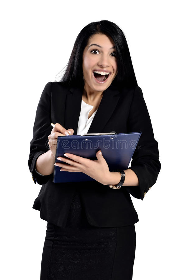 Beautiful attractive business women stock photo