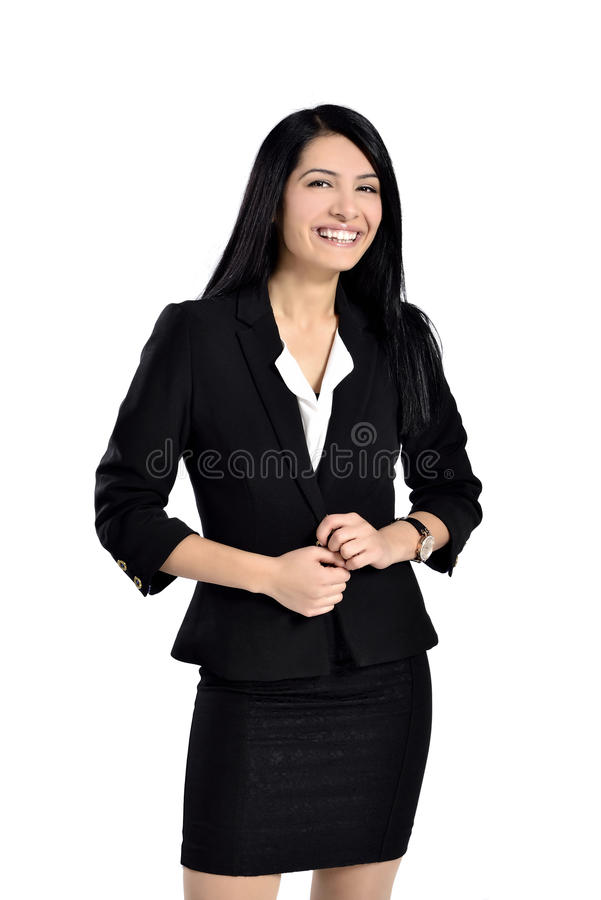 Beautiful attractive business women royalty free stock photos