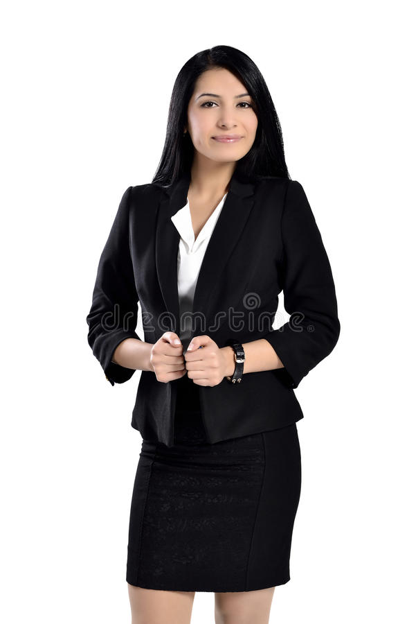 Beautiful attractive business women stock photos