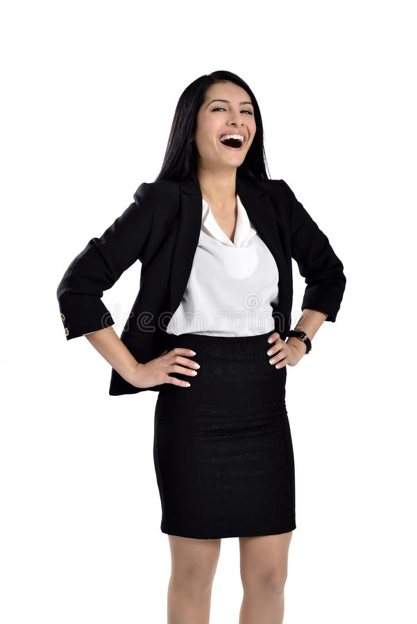 Beautiful attractive business women stock photography