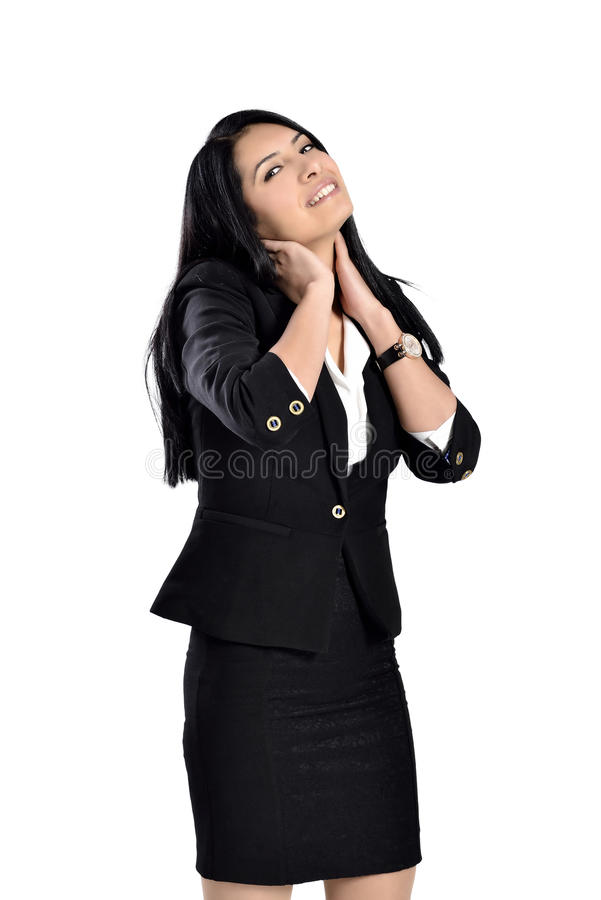 Beautiful attractive business women royalty free stock photography