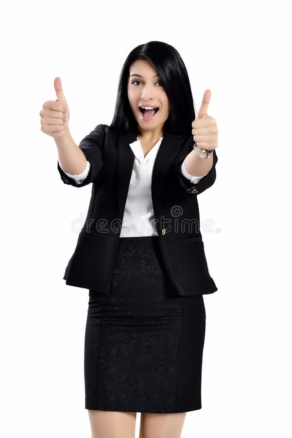 Beautiful attractive business women royalty free stock photo