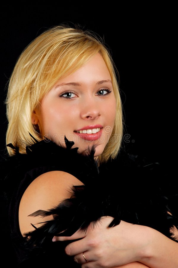 Download Beautiful Attractive Woman In Black Stock Photo - Image: 7201244