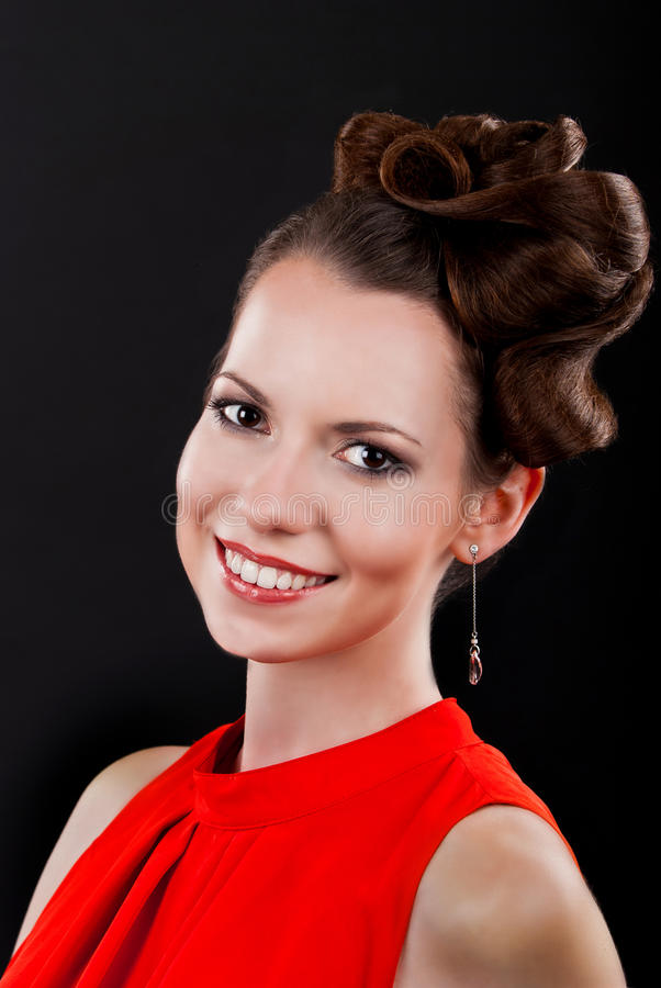 Beautiful and attractive young brunette woman stock photography