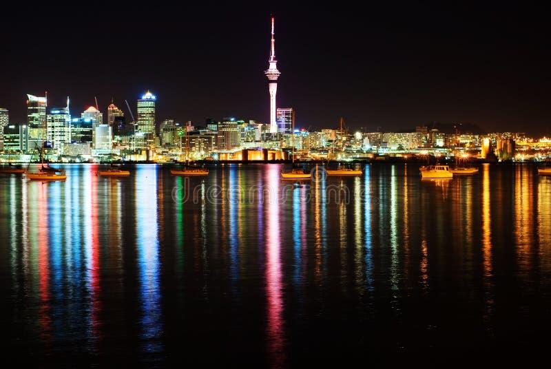 The beautiful Auckland skyline stock photography