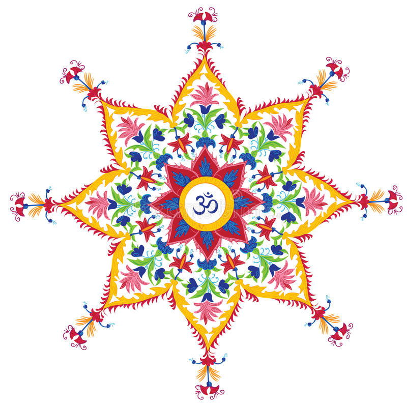 Beautiful Aum Design royalty free illustration