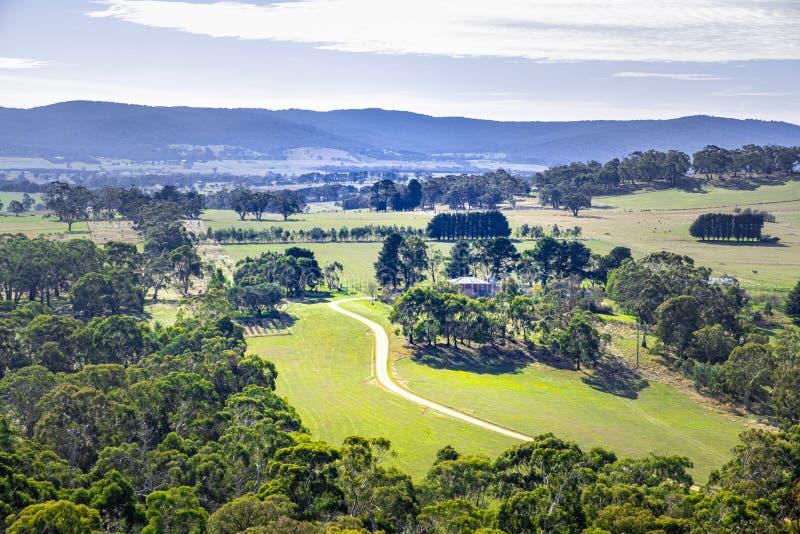 Australian countryside near Mount Macedon. royalty free stock photos