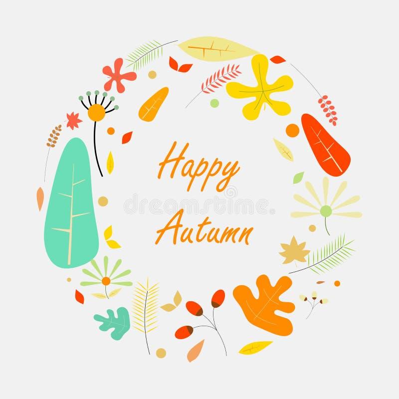 Beautiful autumn background. happy autumn. hello autumn royalty free illustration