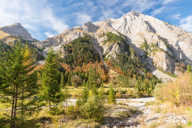 Beautiful Autumn in the Bavarian Alps. Germany stock photo