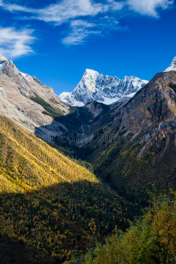 Beautiful autumn day in the Canadian Rocky Mountains in British Columbia stock photos