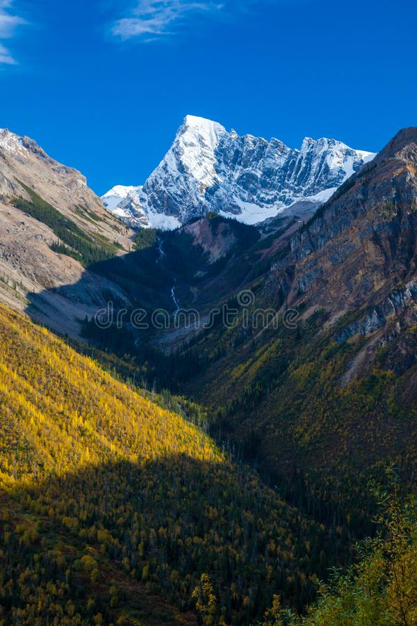 Beautiful autumn day in the Canadian Rocky Mountains in British Columbia stock images