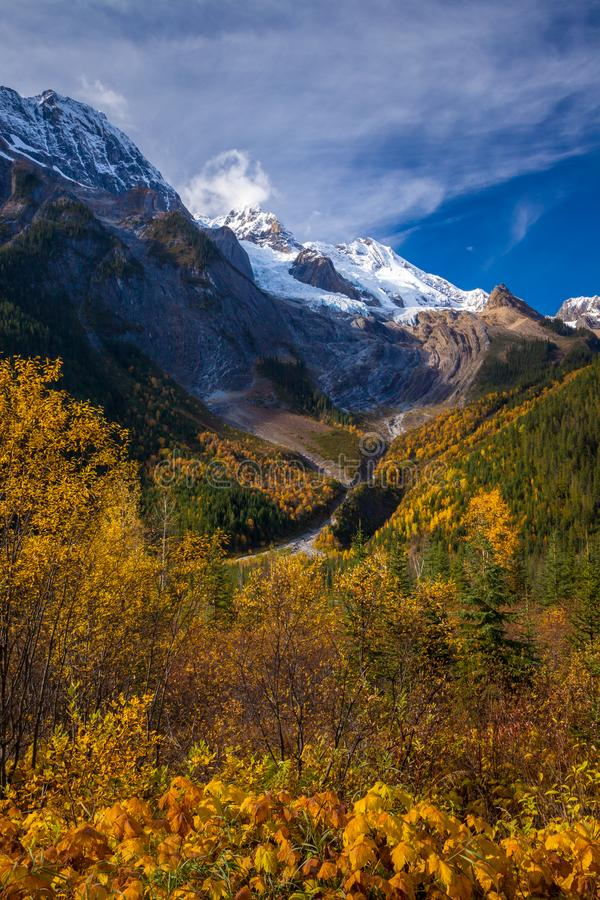 Beautiful autumn day in the Canadian Rocky Mountains in British Columbia royalty free stock photo