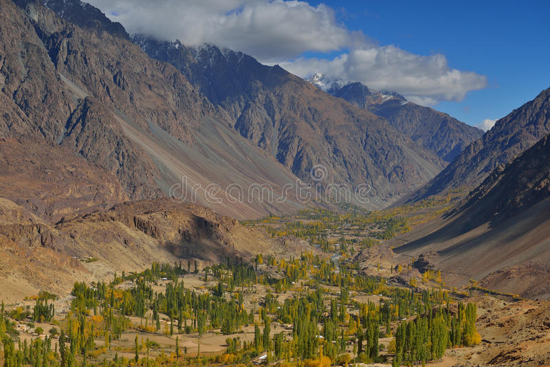 Beautiful Autumn at Ghizer Valley. Autumn at Ghizer Valley. Northern Pakistan stock image