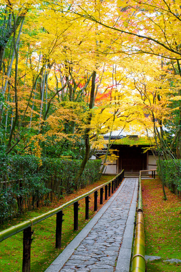 Download Beautiful Garden In Autumn, Kyoto Japan Stock Image - Image: 19459581