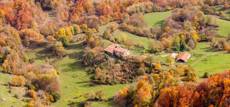 Beautiful autumn landscape in Catalonia stock image