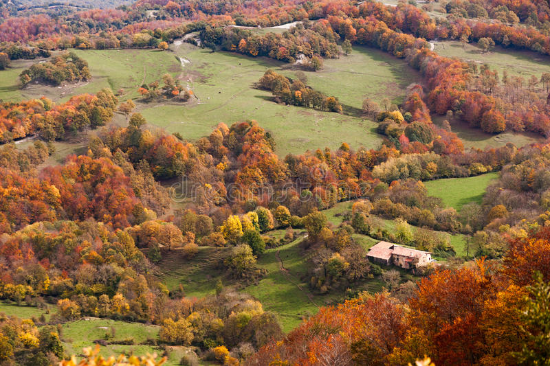 Beautiful autumn landscape in Catalonia royalty free stock images
