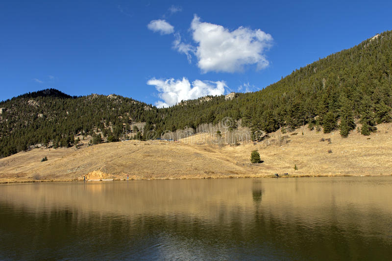 Beautiful autumn landscape in Colorado royalty free stock photography