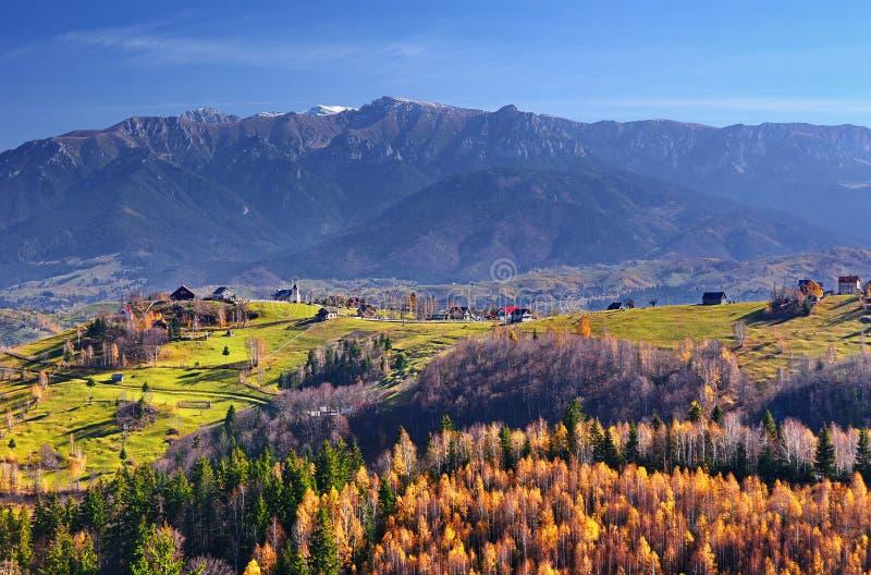 Romania Autumn Landscape in Traditional Village stock photos