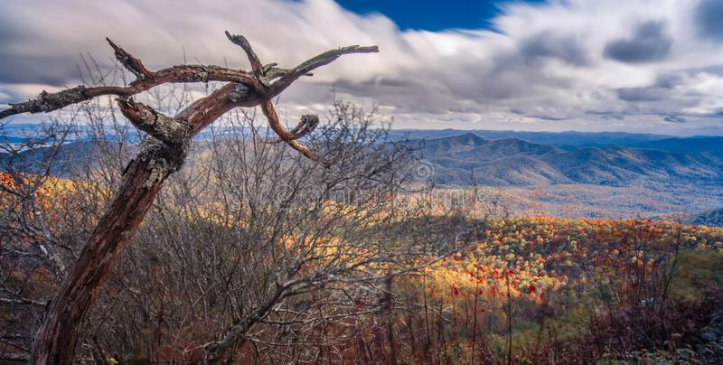 Beautiful autumn landscape in north carolina mountains stock photos