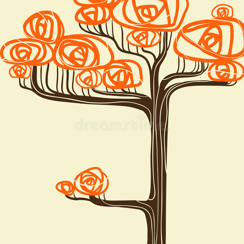 Beautiful autumn tree for your design. Vector stock illustration