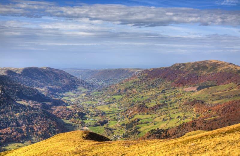 Beautiful Autumn Valley stock photos