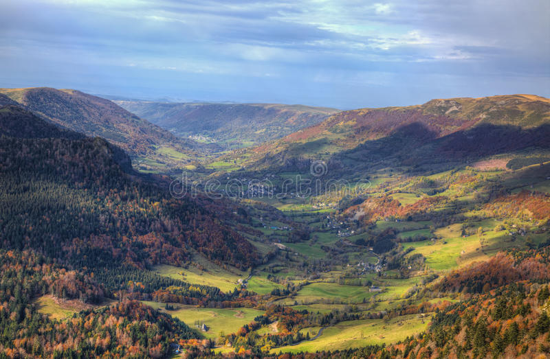 Beautiful Autumn Valley stock images