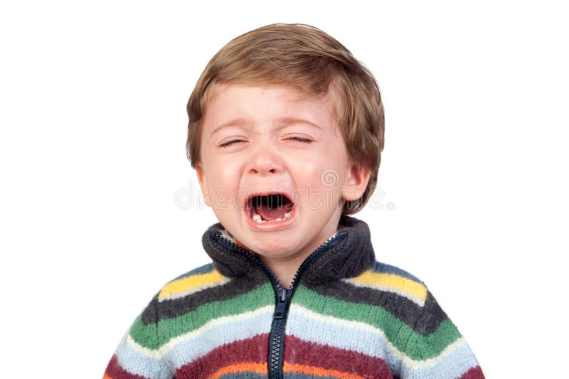 Download Beautiful baby crying stock image. Image of face, little - 24014845