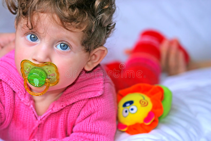 Beautiful baby girl royalty free stock image