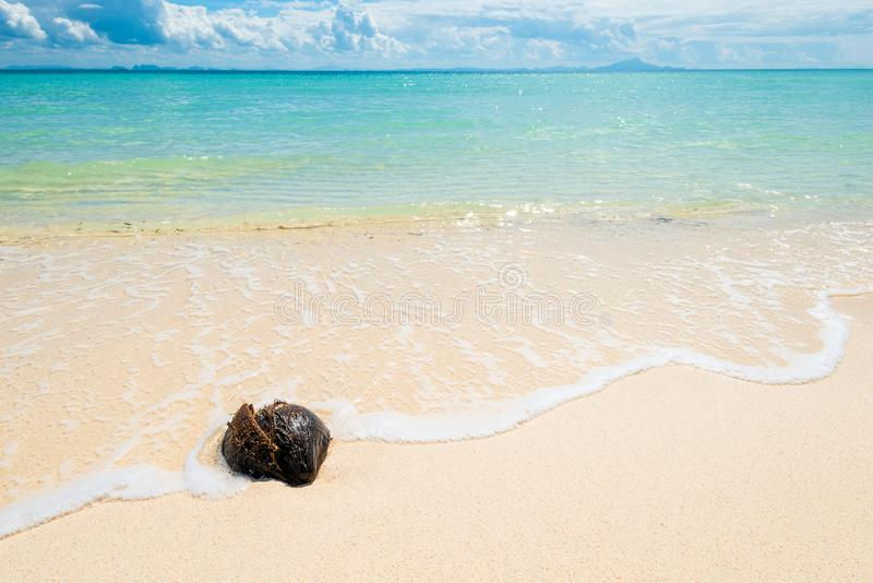 Beautiful background - Andaman Sea and a piece of beach on Poda. Island, Thailand stock photography