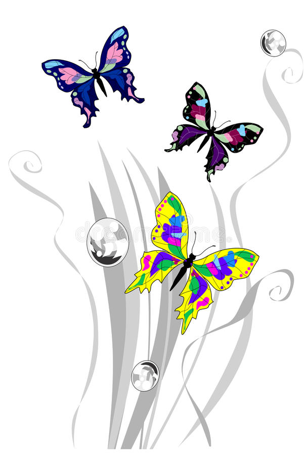 Download Beautiful Background With Butterfly Stock Vector - Image: 25695119