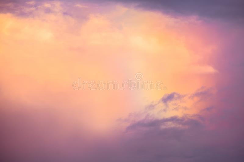 Beautiful background colorful rainbow over the clouds after rains. I. Beautiful background colorful rainbow over the clouds after rains stock photo