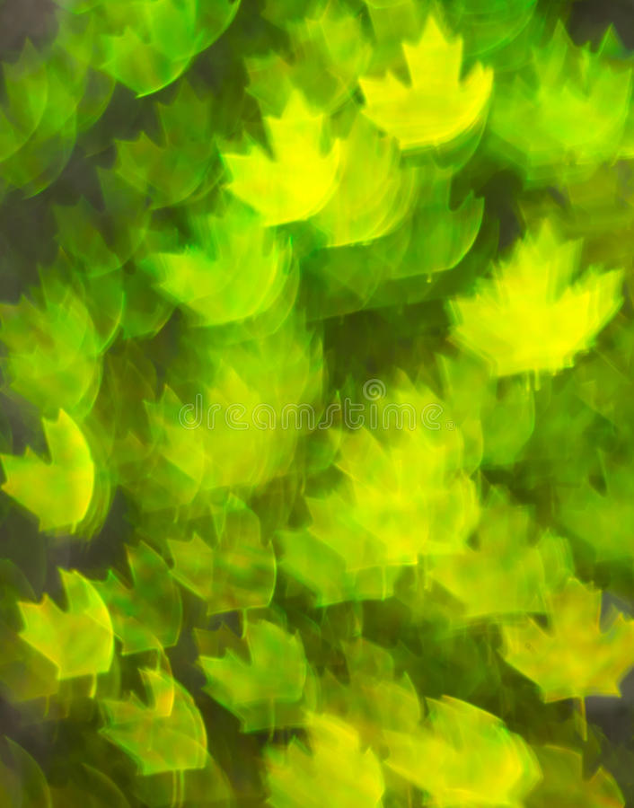 Beautiful background with different colored leaf, abstract background, leaf shapes on black background. Blurry royalty free stock photos