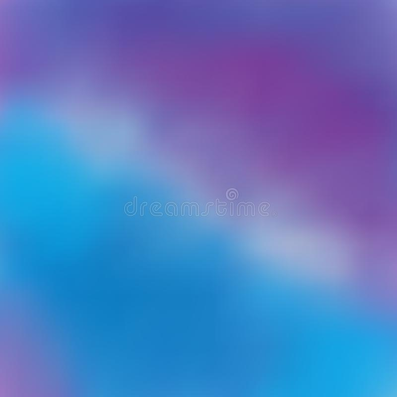 Beautiful background with flowing purple in blue, blur, transition royalty free illustration