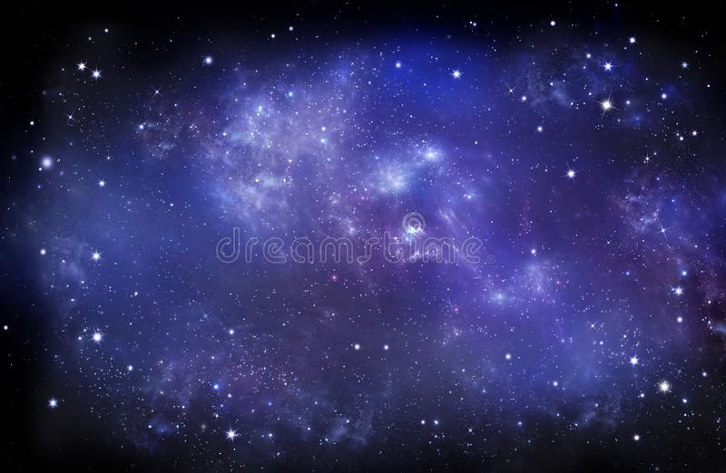 Beautiful starry sky, galactic nebula, space background. Beautiful background of the night sky with stars. starry sky in the open space, galactic nebula stock photography