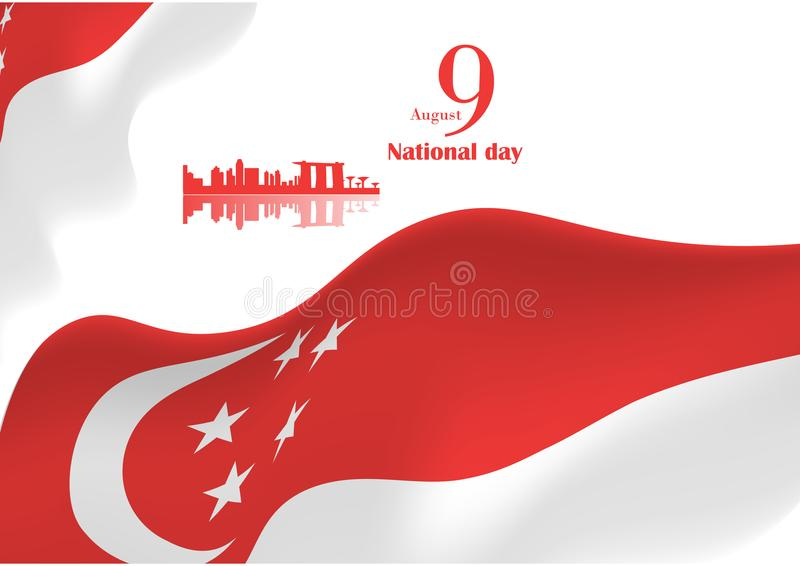 Singapore national day background stock illustration