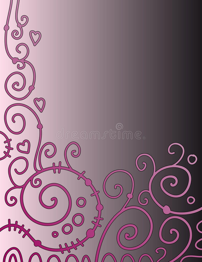 Download Beautiful Background With Pink Curls Stock Illustration - Image: 11876019