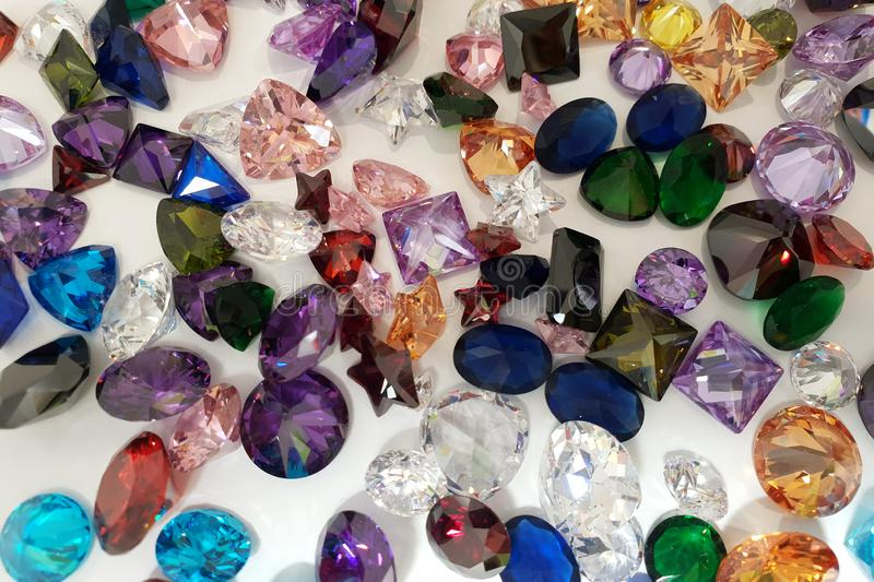 Beautiful background of precious stones for jewelry royalty free stock photo