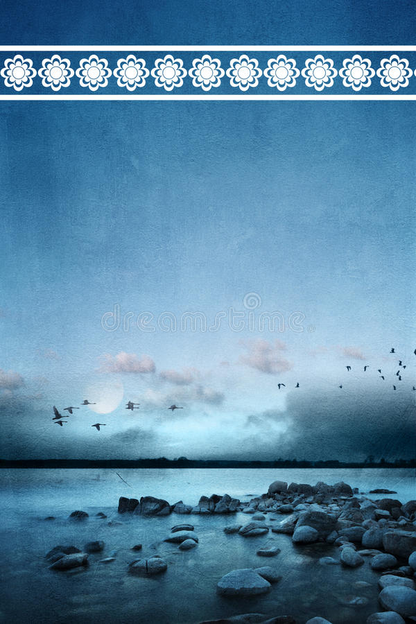 Download Silent Ocean stock image. Image of silent, fantasy, moon - 29898641